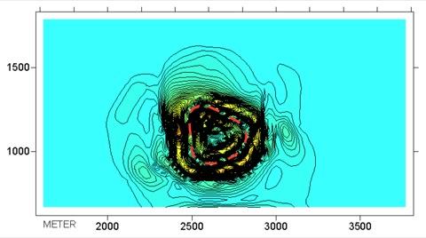 Tüttensee-Meteoritenkrater Gravimetrie Gradient