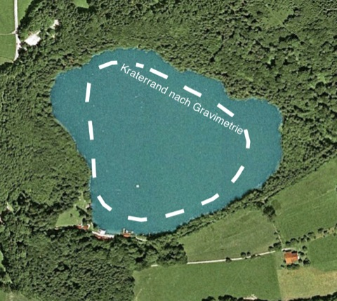 Tüttensee-Meteoritenkrater Gravimetrie Kraterrand