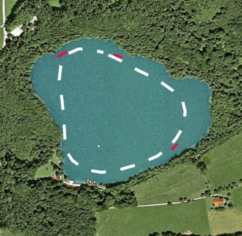 Tüttensee-Meteoritenkrater Gravimetrie Seismik Kraterrand